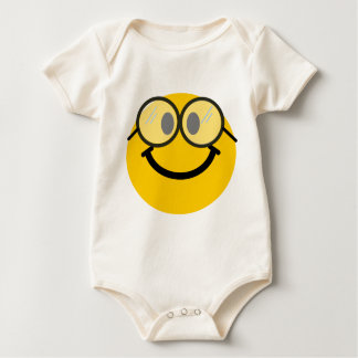 Geeky smiley baby bodysuit