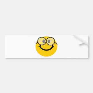 Geeky smiley bumper sticker