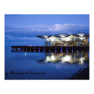 "Geelong Waterfront Carousel 4.25"" X 5.5"" Invitation Card"