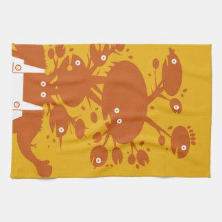 Geen man - Orange Option Tea Towel