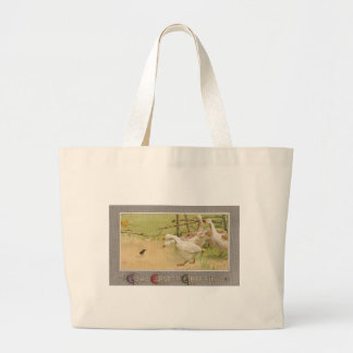 Geese and Chick Vintage Easter Tote Bag