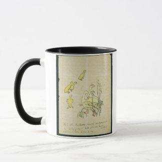 Geese and Goslings (w/c & ink on paper) Mug