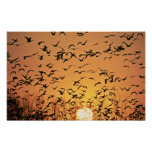 Geese at Sunrise Print