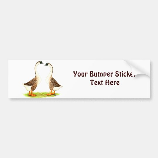 Geese:  Brown Chinese Bumper Sticker