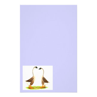 Geese:  Brown Chinese Custom Stationery