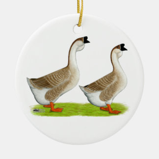 Geese:  Buff African Christmas Ornament