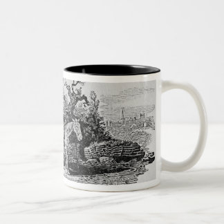 Geese carried to market Two-Tone coffee mug