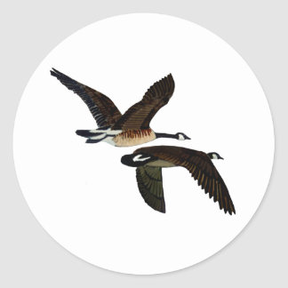 geese classic round sticker