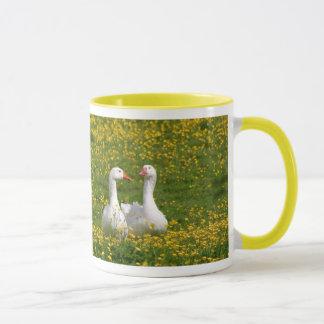 Geese-in-buttercups mug