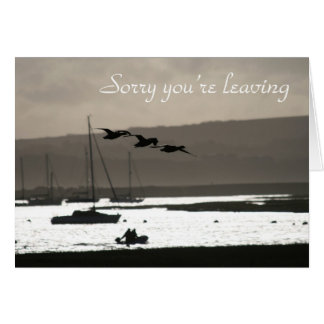 Geese leaving card