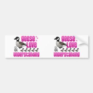 Geese, Love & Understanding Bumper Sticker