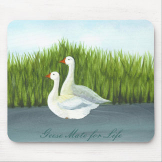 """""""Geese Mate for Life"""" by Brigid O'Neill Hovey Mouse Pad"""
