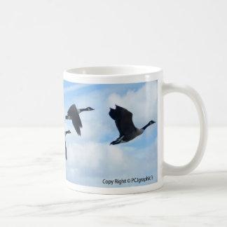 Geese Basic White Mug