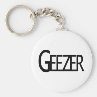 Geezer Basic Round Button Key Ring