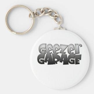 geezer garage basic round button key ring