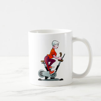 Geezers Go For It Stationary Bike Woman Mug