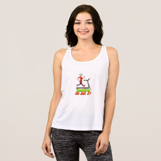 Geezers Go For It Woman on a Treadmill Tank Top