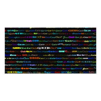 Geir Text Design I Photo Card