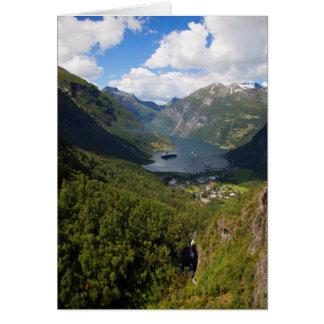 Geiranger Fjord landscape, Norway Card