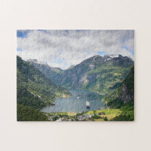 Geirangerfjord view in Norway jigsaw puzzle