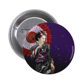 Geisha 6 Cm Round Badge