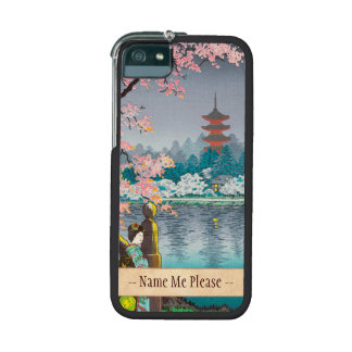 Geisha and Cherry Tree Ueno Park japanese scenery Case For iPhone 5