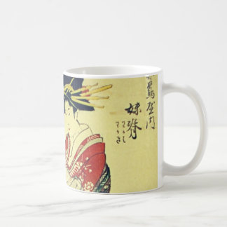 Geisha and Little One Basic White Mug