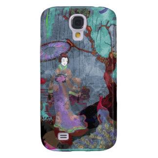 Geisha and Peacock Galaxy S4 Case