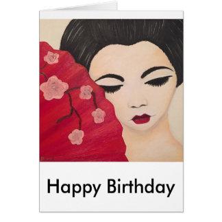 geisha birthday card