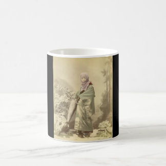 Geisha circa Winter 1885 Basic White Mug