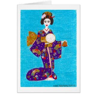 Geisha Doll Card