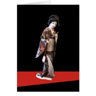 Geisha Doll Greeting Card