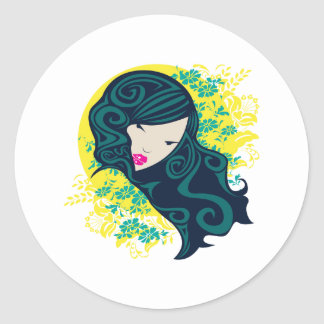 Geisha Flowers Sticker