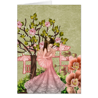 Geisha Girl All Occasion Greeting Card