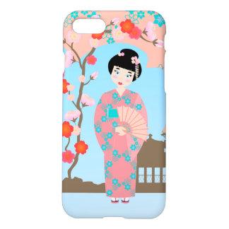 Geisha girl birthday party iPhone 7 case