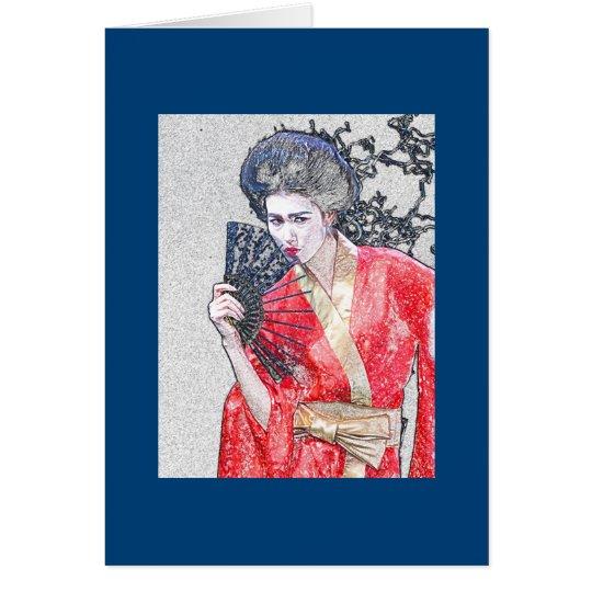Geisha Girl Greeting Card