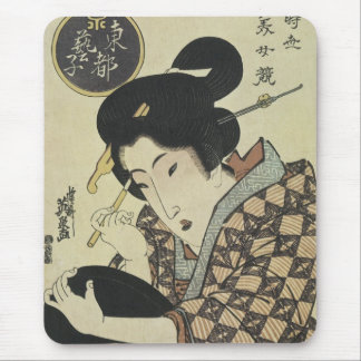 Geisha Girl in Eastern Capitol, Eisen, 1820 Mousep Mouse Pad