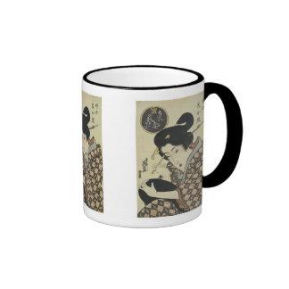 Geisha Girl in Eastern Capitol, Eisen, 1820 Mug