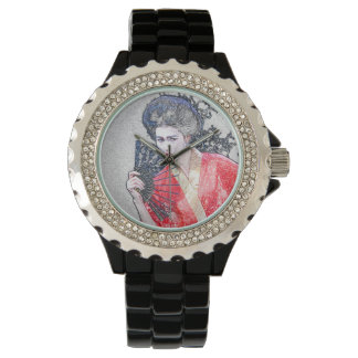Geisha Girl Rhinestone Watch