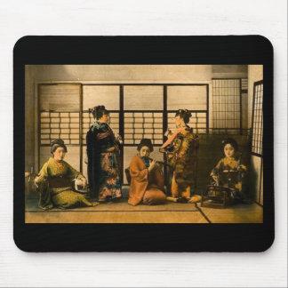 Geisha Girls Magic Lantern Slide Mouse Mat