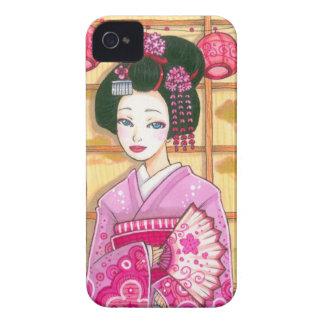 Geisha in Pink Kimono Blackberry Bold Case