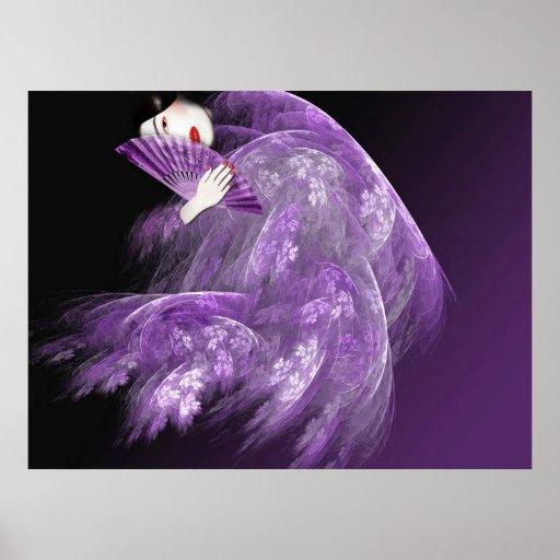 Geisha in Purple Poster