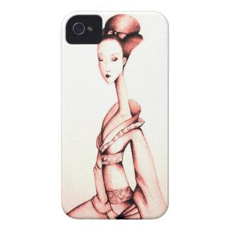 Geisha in Sepia iPhone Case iPhone 4 Case