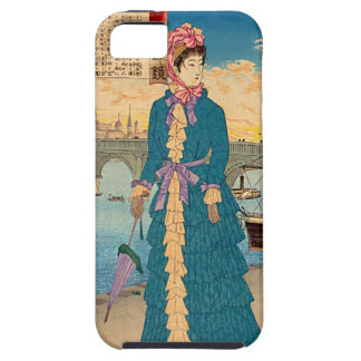 Geisha in the West Japanese Woodblock Art Ukiyo-E iPhone 5 Covers