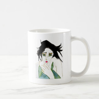 GEISHA, JAPONESE, WOMAN, ASIAN BASIC WHITE MUG