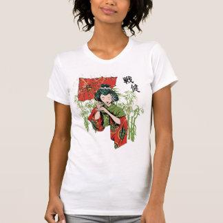 Geisha lady with umbrella tee