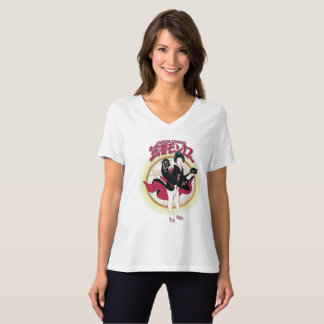 Geisha Monroe Relaxed Fit V-Neck T-Shirt