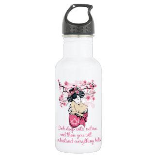 Geisha - nature quote 532 ml water bottle