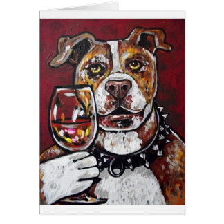 Geisha pitbull wine card