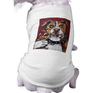Geisha pitbull wine sleeveless dog shirt